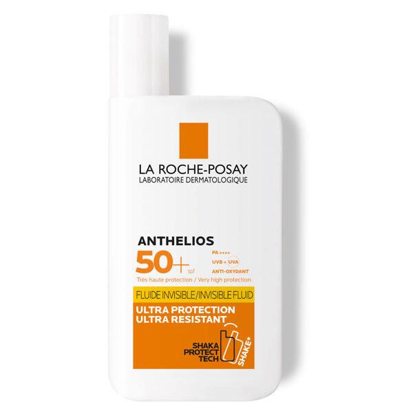 LA ROCHE-POSAY ANTHELIOS INVISIBLE FLUID SPF 50+ saules aizsargemulsija, 50 ml