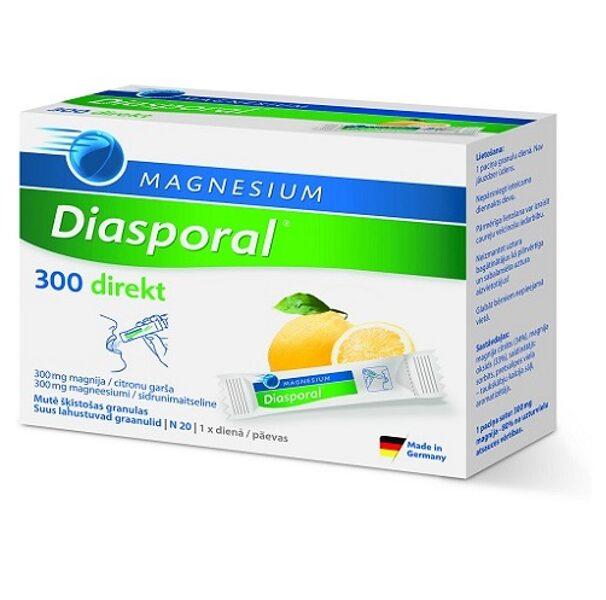 MAGNESIUM Diasporal 300 direkt, 20 paciņas