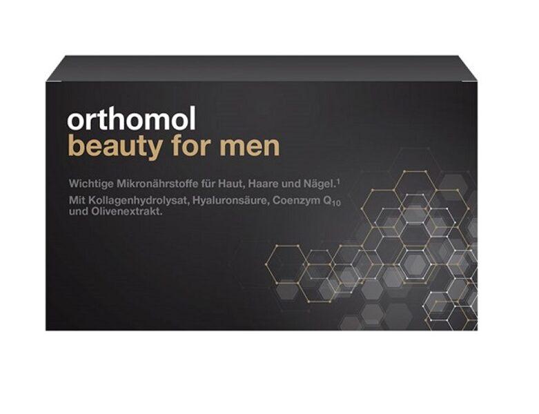 ORTHOMOL BEAUTY FOR MEN šķīdums flakonos, 30 dienu devas