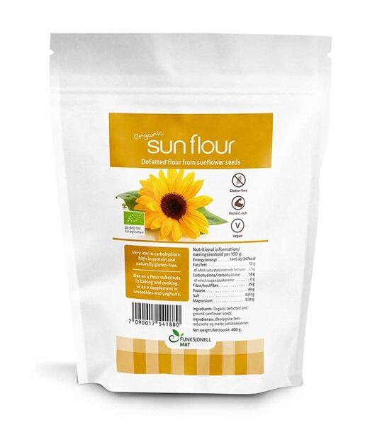 Sun Flour, saulespuķu sēklu milti ECO, 400 g